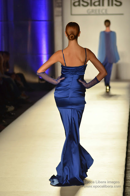 Aslanis collection catwalk.