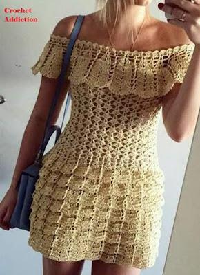 Vestido em crochê Vanessa Montoro com receita e gráfico
