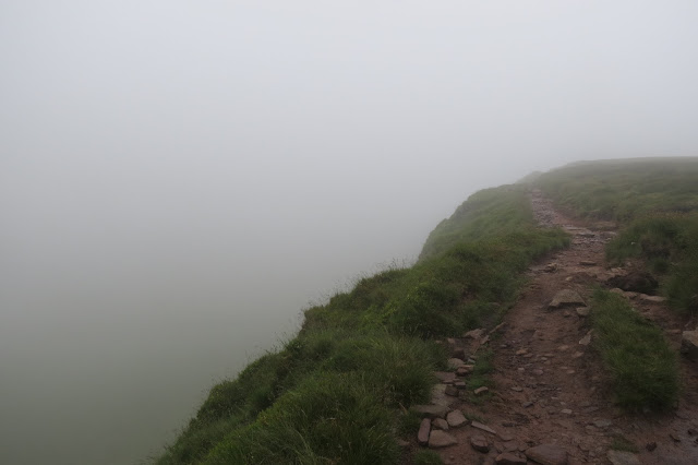 A view back along the path - nothing is visible below now.