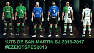 Kits San Martin de SJ 2016-2017 Pes 2013 By Ezekitmaker