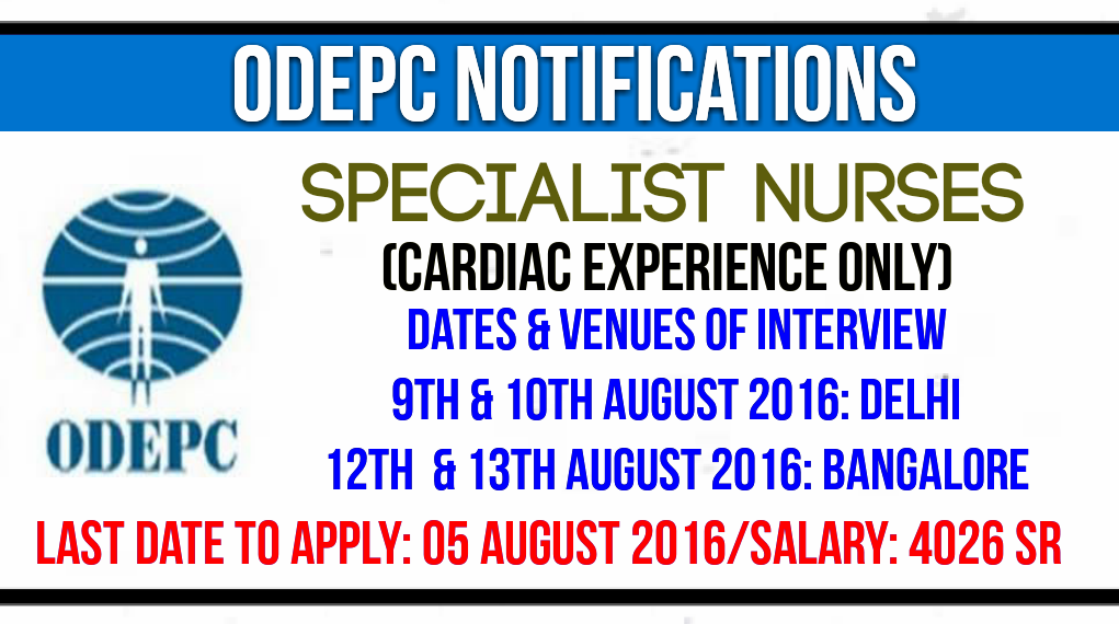Nurses Jobs Middle East Interview For Cardiac Specialist