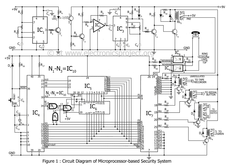 Security System Wiring Diagram 240 Volt Led Light Vicky Vfx Eletronics 4u