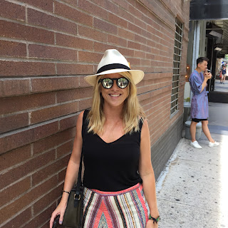 Woman wearing Panama Hat from The Hat House in NYC
