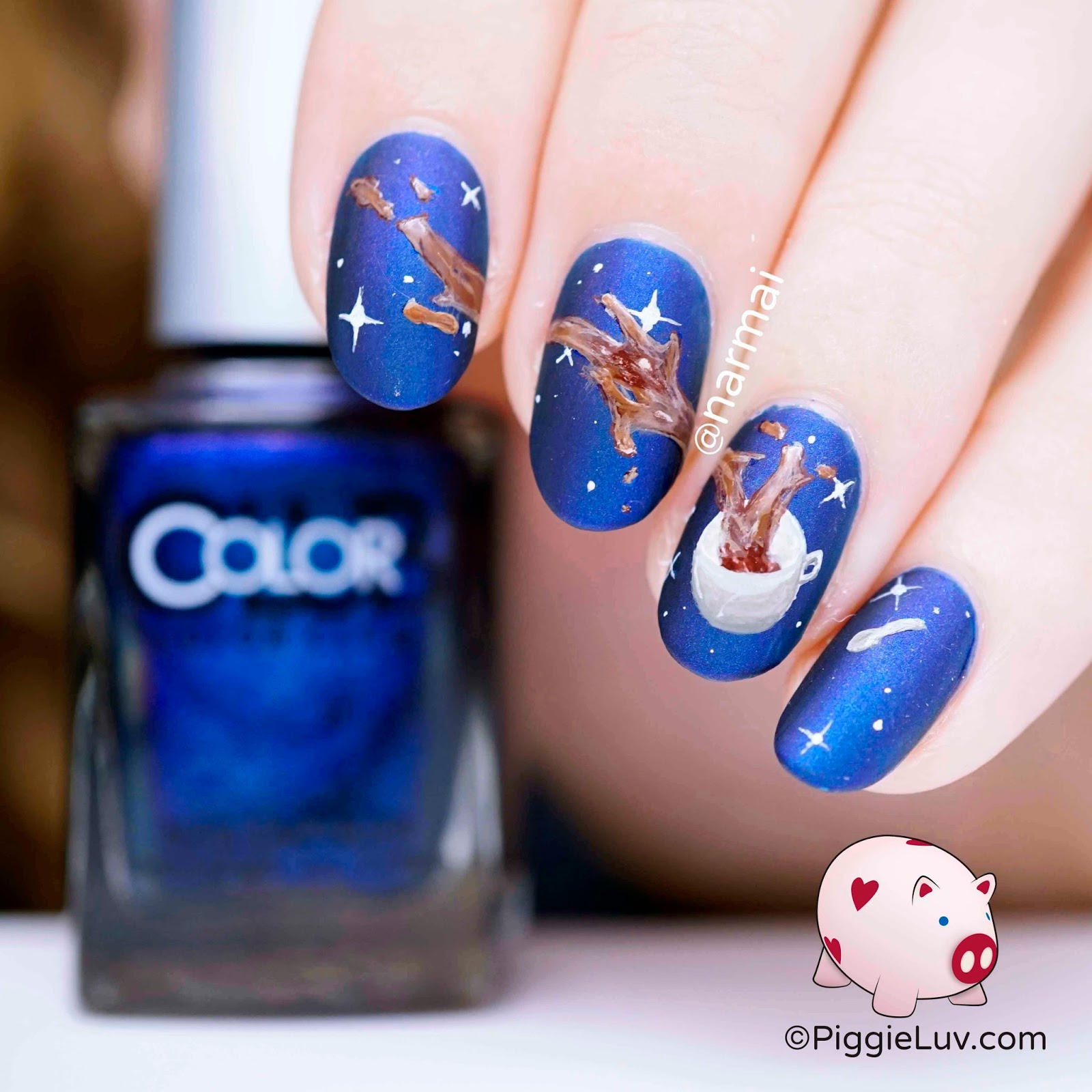 Coffee Art Nails Piggieluv Galaxy Coffee Nail Art From Space