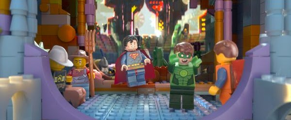"Batman, Superman y Green Lantern en ""La Lego Película"""