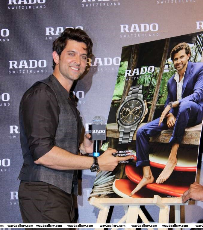 Rado brand ambassador Hrithik Roshan unveiled the Swiss watchmakers chocolate brown hightech ceramic collection