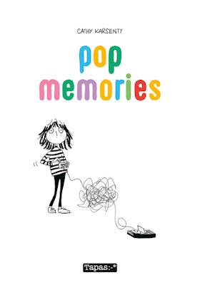 """couverture de """"POP MEMORIES"""" de Cathy Karsenty chez Delcourt"""