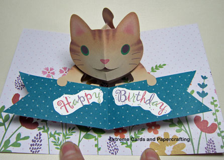 Halloween Pop Up Cards Templates.Happy Birthday Cat Pop Up Card