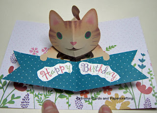 happy birthday cat pop up card kagisippo pattern