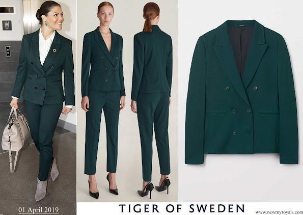 Crown Princess Victoria wore Tiger of Sweden Molena suit