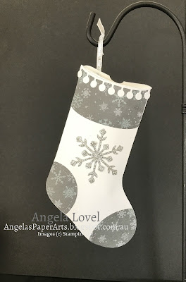 Stampin' Up! Trim Your Stocking by Angela Lovel, Angela's PaperArts