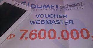Hadiah pemenang kontes seo Dumet School 2014