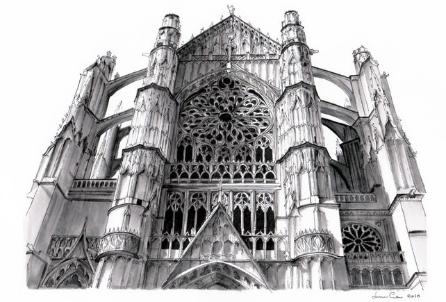 04-Cattedrale-di-Beauvais-Beauvais-Lorenzo-Concas-Churches-and-Cathedrals-Urban-Architectural-Drawings-www-designstack-co