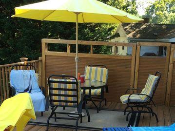 Amazing Updated yellow patio set
