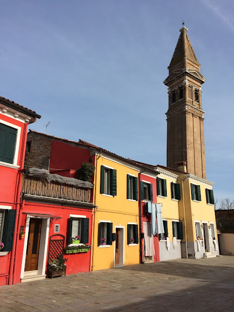 Church Bell Tower in Burano Venice Italy