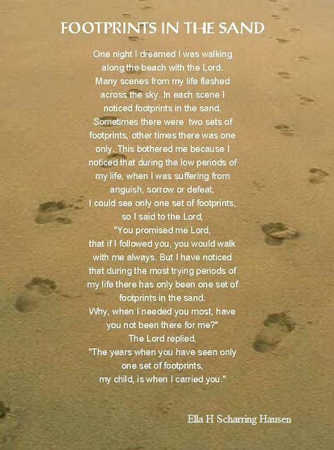 Prints of Grace: My Dad's Footprints in the Sand Prayer ...