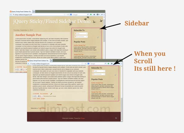 Blogger Sidebar Fixed Sticky
