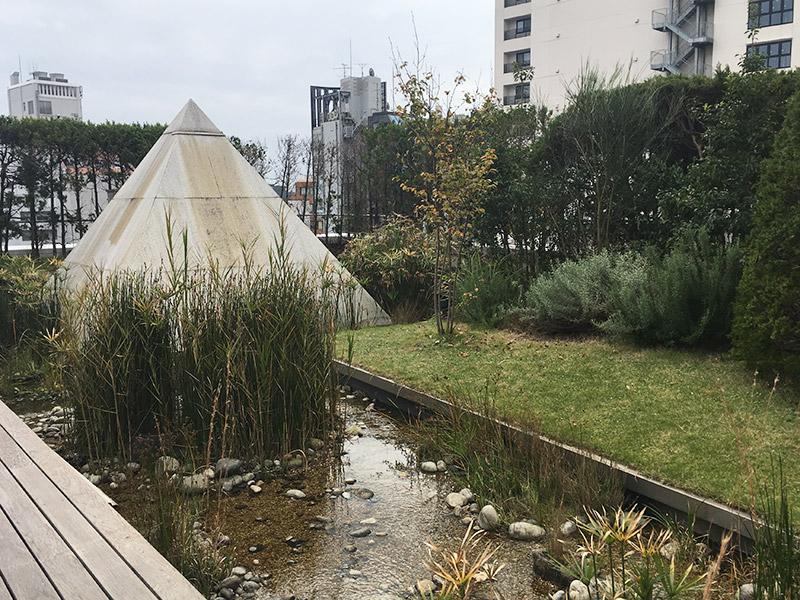 表参道のアート系複合施設SPIRAL5階にあるカフェ『家と庭』の庭園