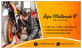 Tarjetas de visita para taller de motos