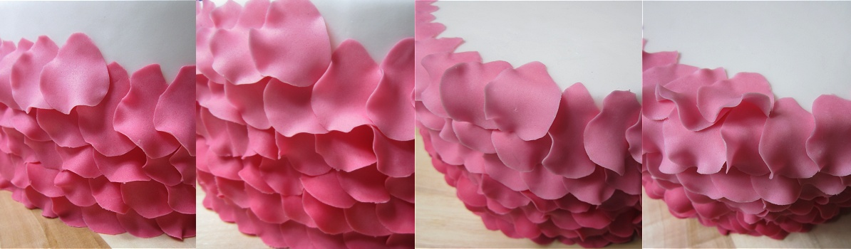 Tutorial Petal Cake/Blütentorte/Torte mit Blütenblättern 12