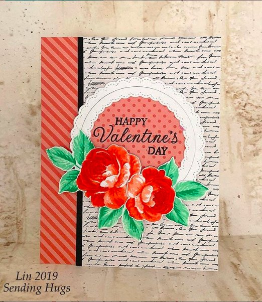 Sunny Studio Stamps: Everything's Rosy Fancy Frames Customer Card Share by Lin Brandyberry