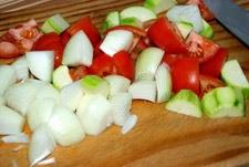 Cortar las verduras