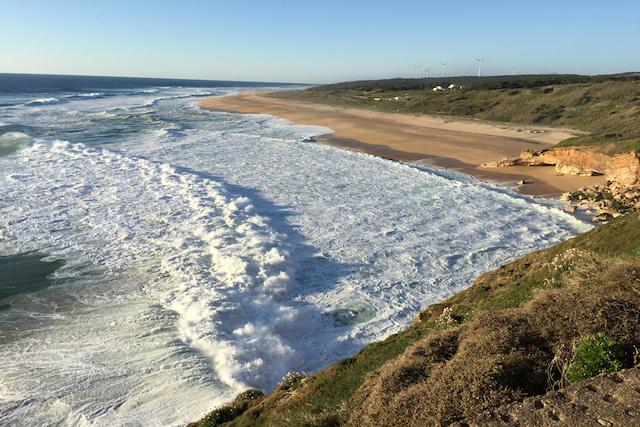 Praia do Norte na Nazaré