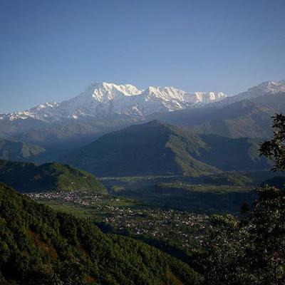 Vistas desde el mirador de Sarangkot en Pokhara