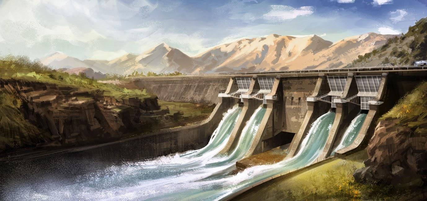 Vaughan Flanagan S Illustration Blog Hydro Dam