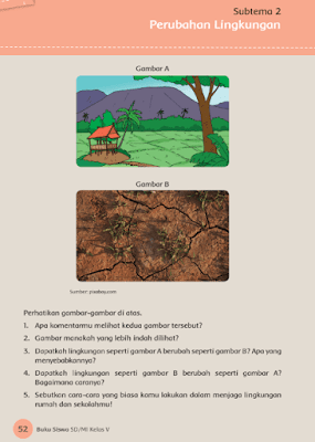 Kunci Jawaban Tematik Kelas 5 Tema 8 Subtema 2