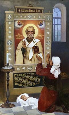 І.С. Їжакевич. Ікона святителя Николая Мирлікійського з Макаріївської церкви м. Києва (1947 р.)