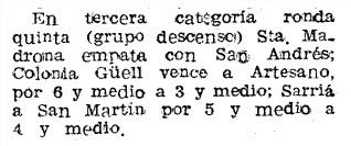 Recorte de Mundo Deportivo del 15 de febrero de 1952