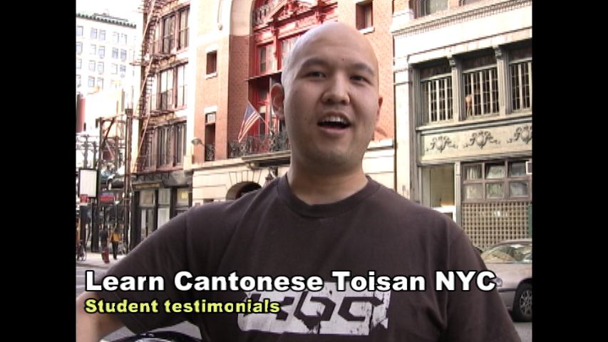 Tony is a student at Learn Cantonese Toisan New York