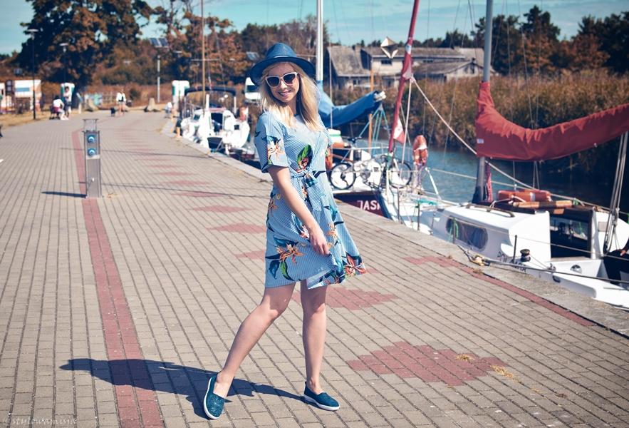 stylizacja, morze, przystań, moda, sukienka, zaful, skóra, buty, czasnabuty.pl, kapelusz, szaleo, Wolin