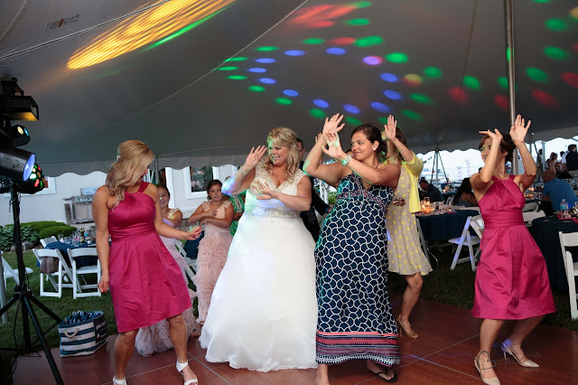dancing at new baltimore waterfront wedding