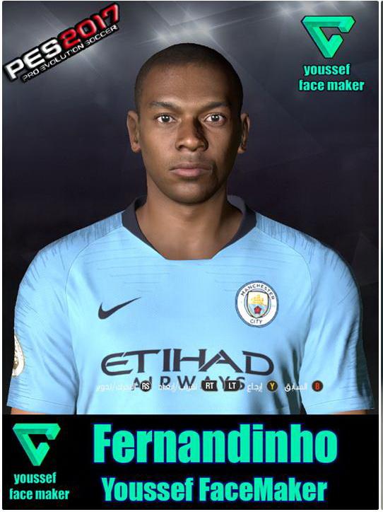 PES 2017 Fernandinho Face by Youssef Facemaker