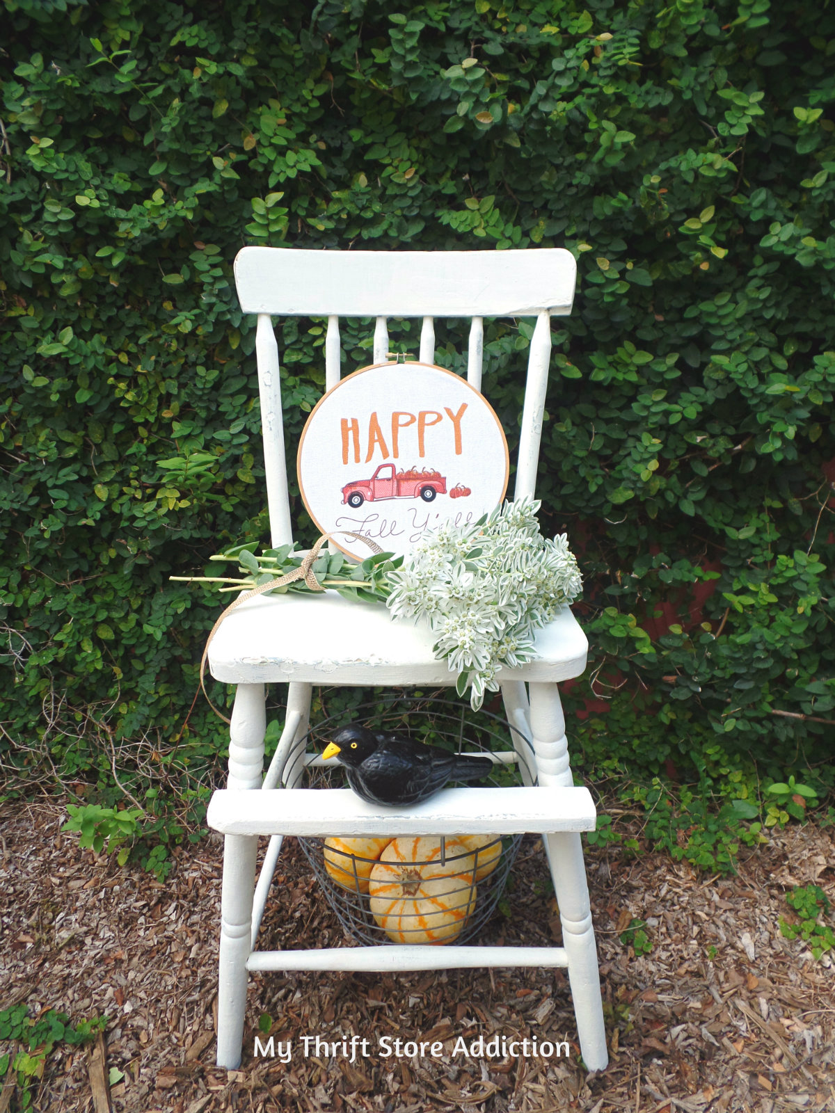 vintage high chair upcycle