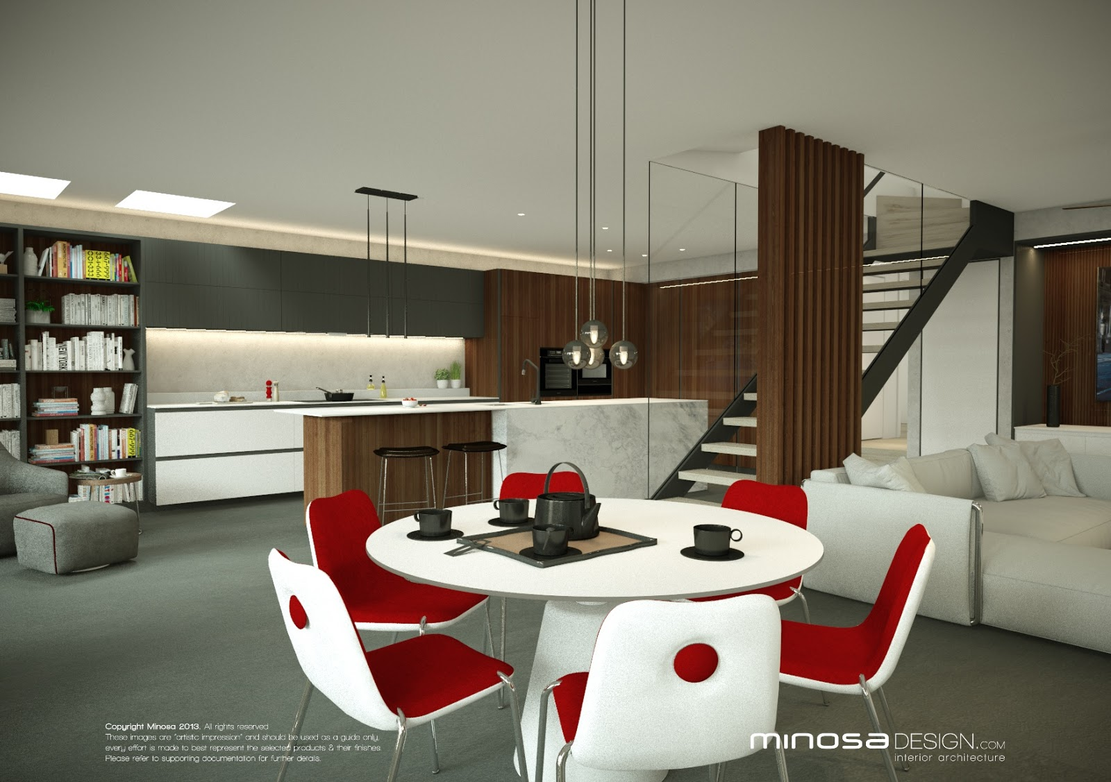 Minosa the living room for Living room n kitchen