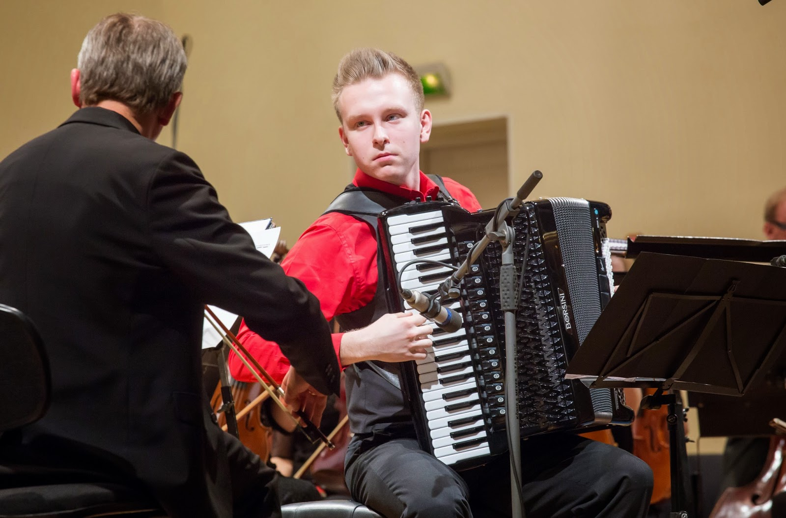 Accordion player Henri Zibo and Estonian National Symphony Orchestra - photo Peeter Langovits