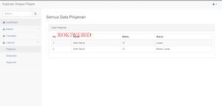 Aplikasi Simpan Pinjam Menggunakan php mysql