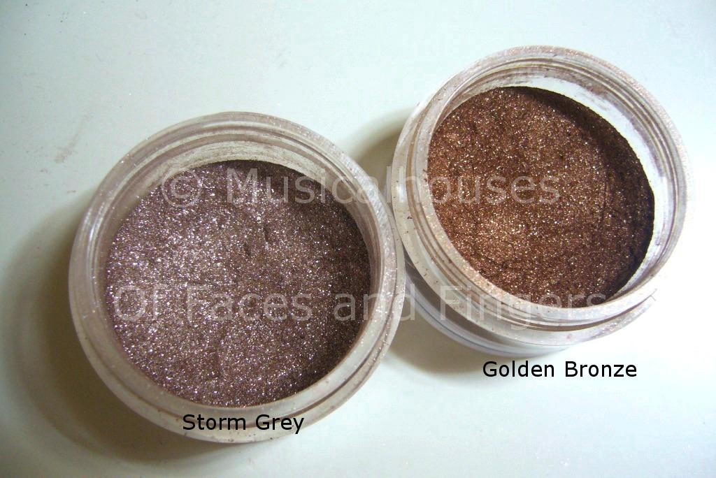 8ab32bb51d3de First Light Cosmetics  Golden Bronze and Storm Grey Swatches and ...