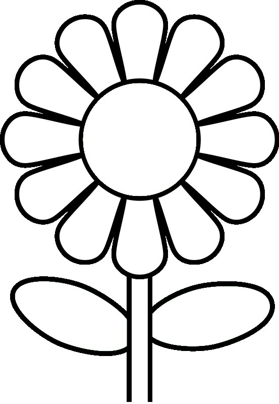 Flower Petal Outline Coloring Page Coloring Pages