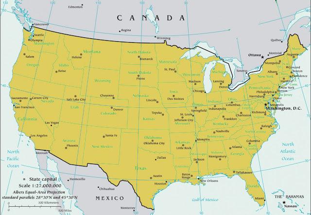 Gambar Peta Amerika 2