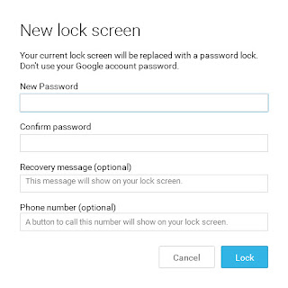 reset android password