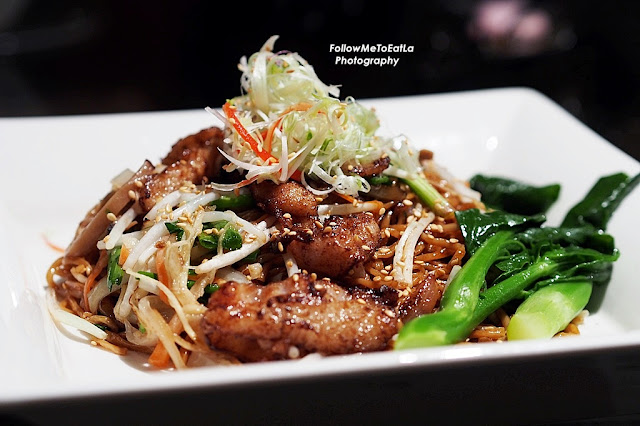 Stir Fried La Mian With Pork & Seasonal Vegetable