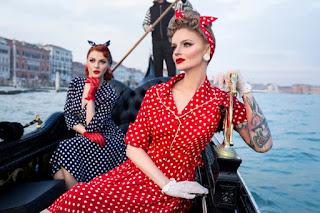 Lilian Wells, pinup life, The Seamstress of Bloomsbury, vintage women's headwear,