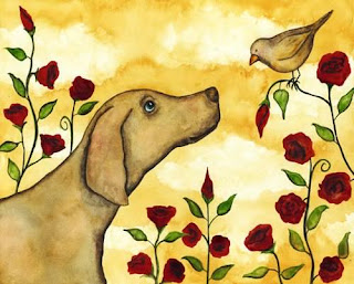 Dogs Art Printed on Epson Ultra Premium Paper Matte finish. Available in sizes Labrador retriever mix) who came to me