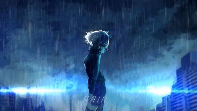 Rain Girl Wallpaper Engine
