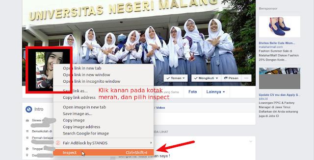 cara mengganti foto profile facebook