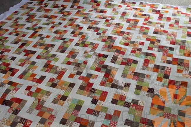 Piece N Quilt: Scrappy Zig Zag Quilt - Custom Machine Quilting by Natalia Bonner